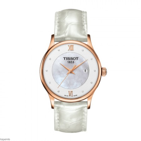 Reloj de oro Tissot T-Gold Rose Dream Quartz T914.210.76.116.00