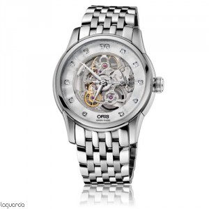 Oris 01 734 7670 4019 MB Artelier Skeleton Diamonds