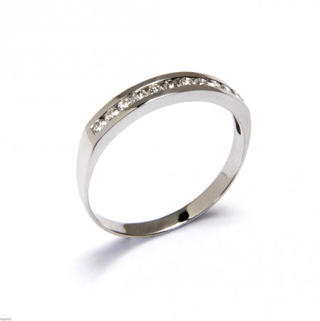 Wedding ring with white gold and 11 natural diamonds