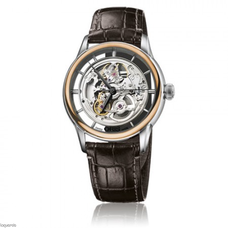 Reloj Oris Skeleton Translucent 01 734 7684 6351 LS-Croco