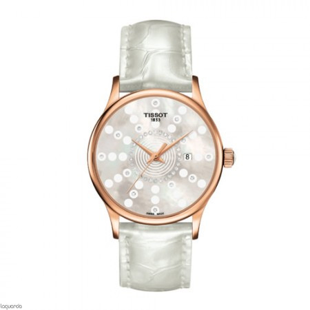 Reloj de oro Tissot T-Gold Rose Dream Quartz T914.210.76.116.01