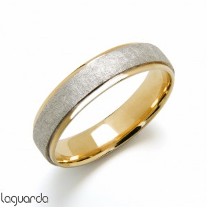 Wedding ring bicolor