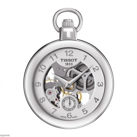 Reloj Tissot T-Pocket Skeleton Mechanical T853.405.19.412.00 bolsillo
