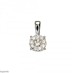 Pendant in 18k white gold with diamonds