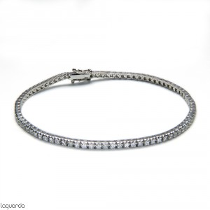 Riviere of white gold with 83 natural diamonds