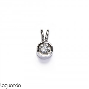 Pendant 18k white gold and natural diamond