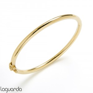 Bangle bracelet yellow gold